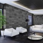 Executive Anthracite Modern Tile Effect Wall Panel