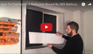 How to clad inside a bathroom reveal