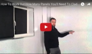 How to work out how many panels you'll need to clad a bathroom