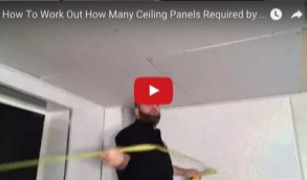 How to work out how many ceiling panels required