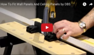 How to fit wall panels and ceiling panels