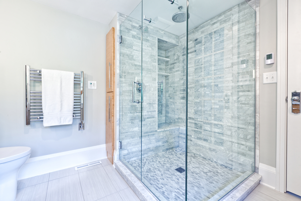 stylish glass shower design
