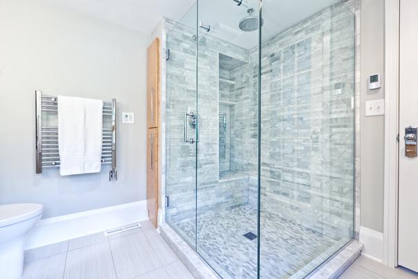 stylish glass shower design