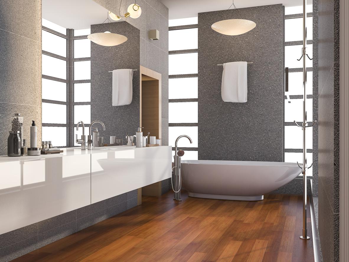 What are the best waterproof bathroom flooring designs?