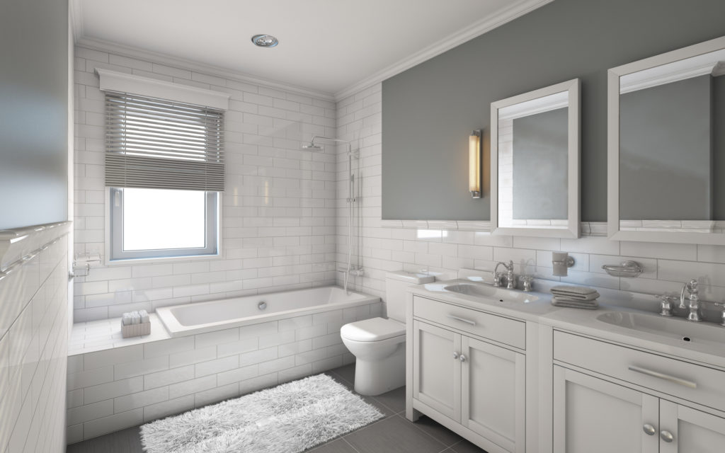 Nice White Bathroom Walls Can Look Either Modern Or Traditional, Depending On  How You Choose To Decorate The Rest Of The Room And What Types Of Bathroom  ...
