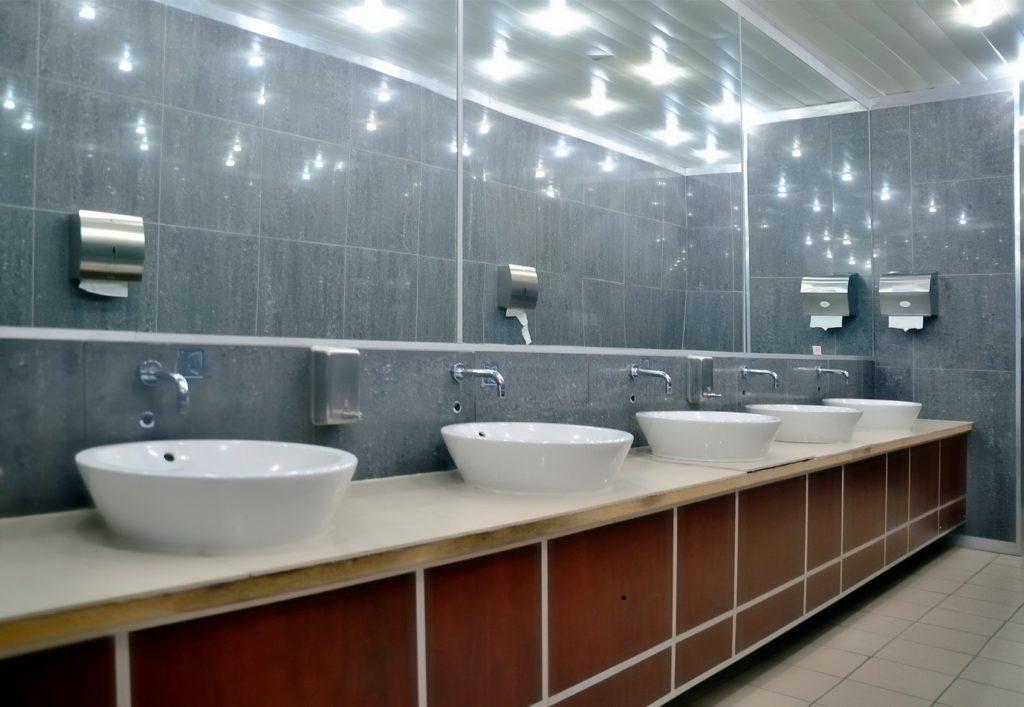 restaurant bathroom cladding