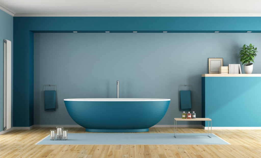 modern colourful bathroom