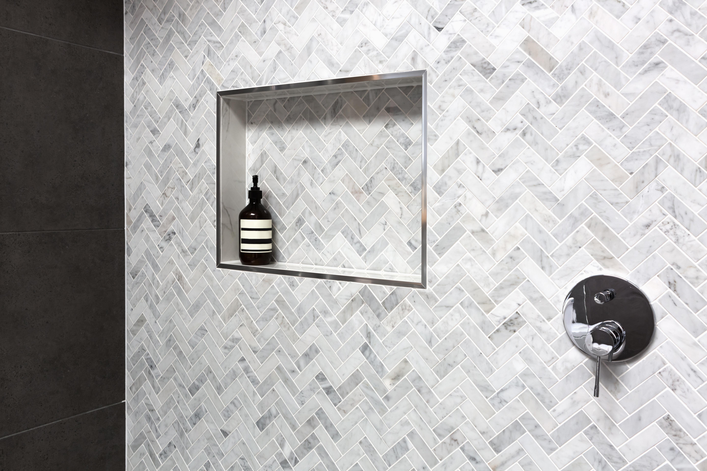 How To Create Recessed Bathroom Shelves Dbs Bathrooms
