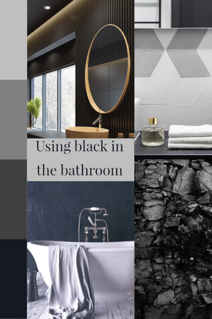 Using black in the bathroom