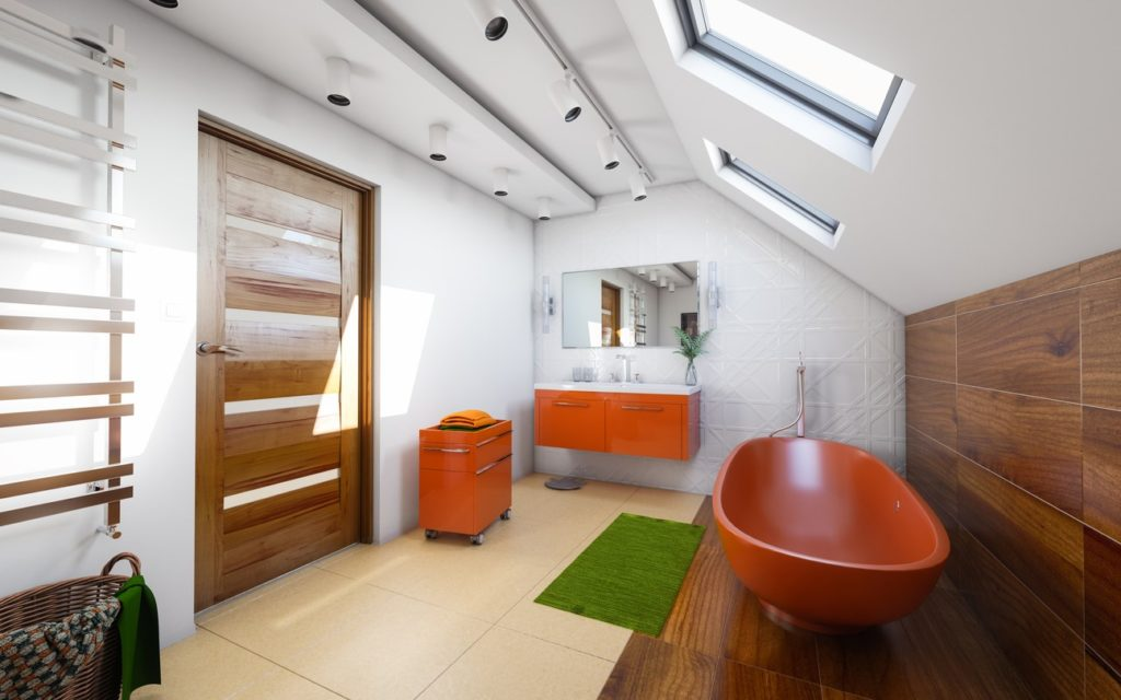 Bathroom with Orange Suite