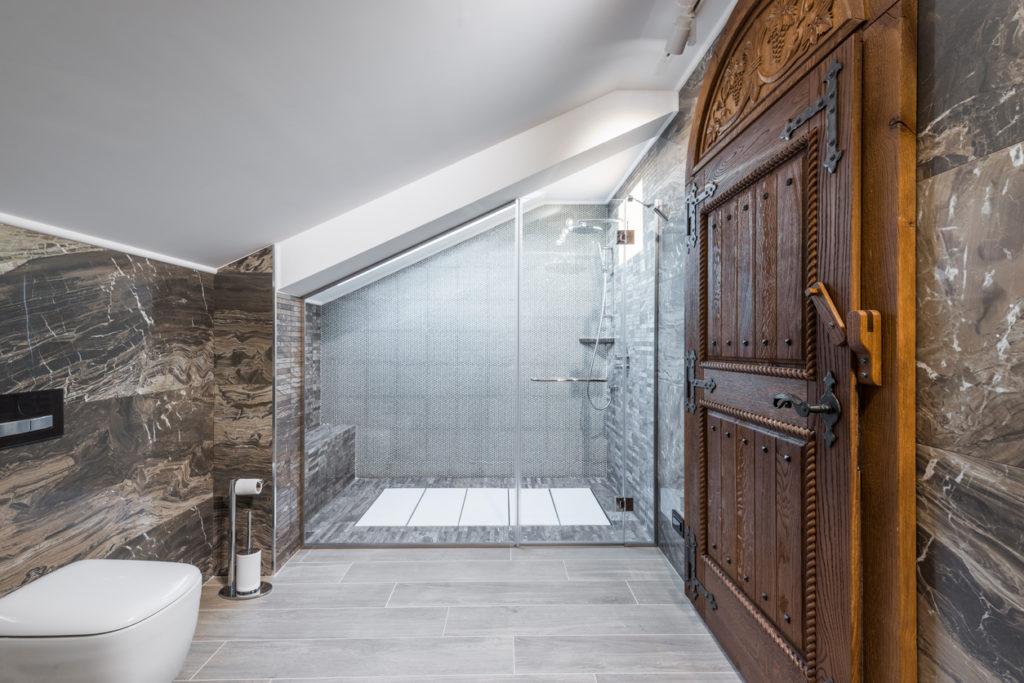 Attic shower room conversion