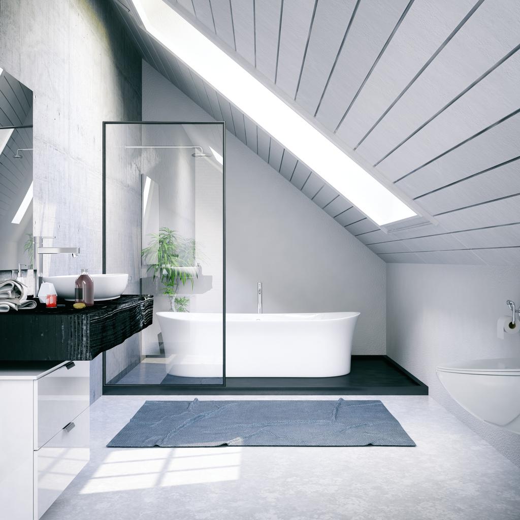 Large modern loft wetroom